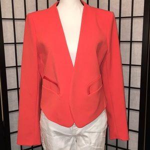 Worthington Coral Tuxedo Cropped Blazer, L, EUC